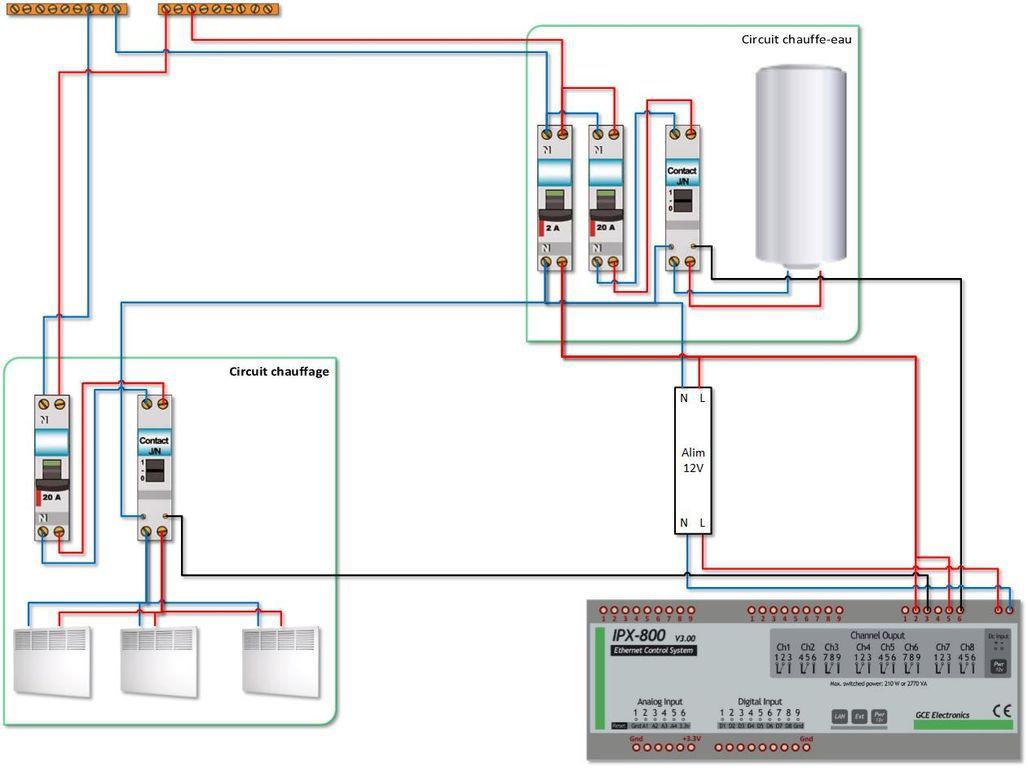 100 branchement contacteur chauffe eau d co branchement tableau electr - Contacteur chauffe eau ...